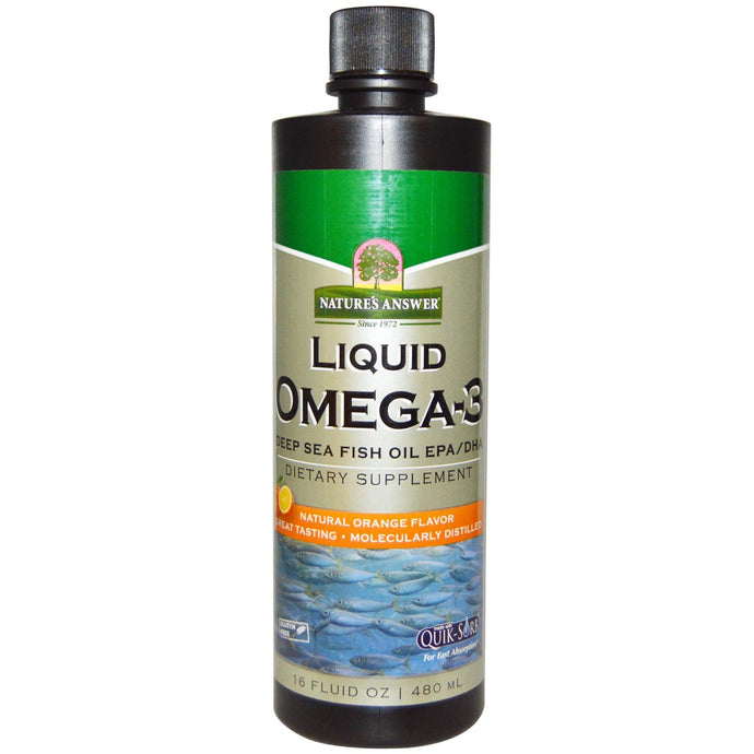 Nature's Answer, Liquid Omega 3, Deep Sea Fish Oil, EPA/DHA, Natural Orange Flavour, 480 ml, 16 fl oz