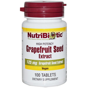 Nutribiotic, Grapefruit Seed Extract, 125mg, 100 Tablets