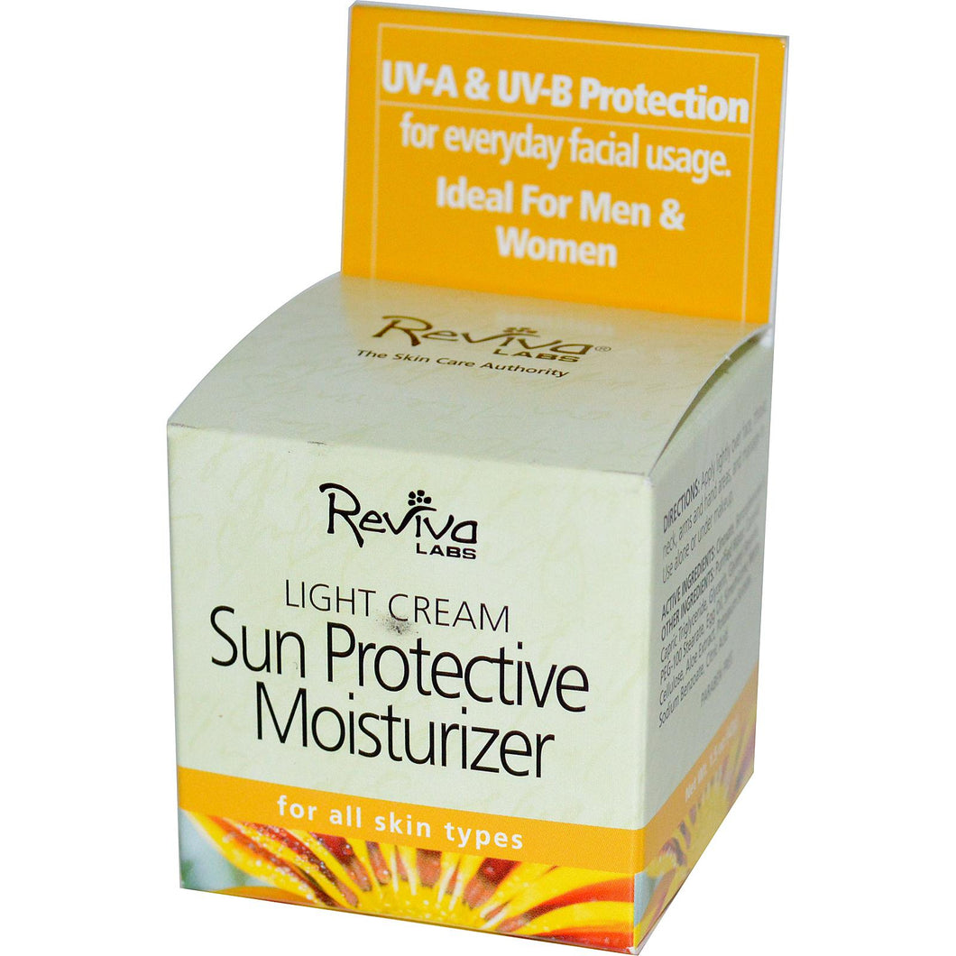 Reviva Labs, Sun Protective Moisturizer Light Cream, 42gms