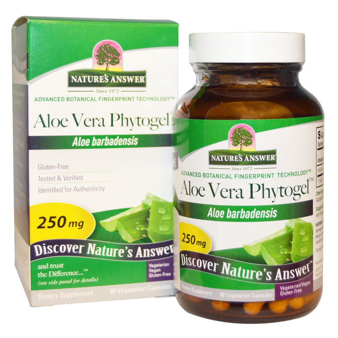 Nature's Answer Aloe Vera Phytogel 250 mg 90 Veggie Capsules