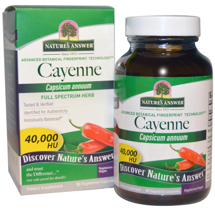 Nature's Answer Cayenne Capsicum Annuum 90 Veggie Capsules