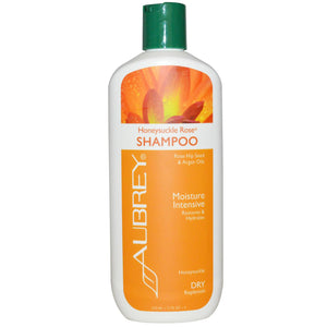 Aubrey Organics, Honeysuckle Rose, Shampoo, Moisture Intensive, Dry, 325 ml