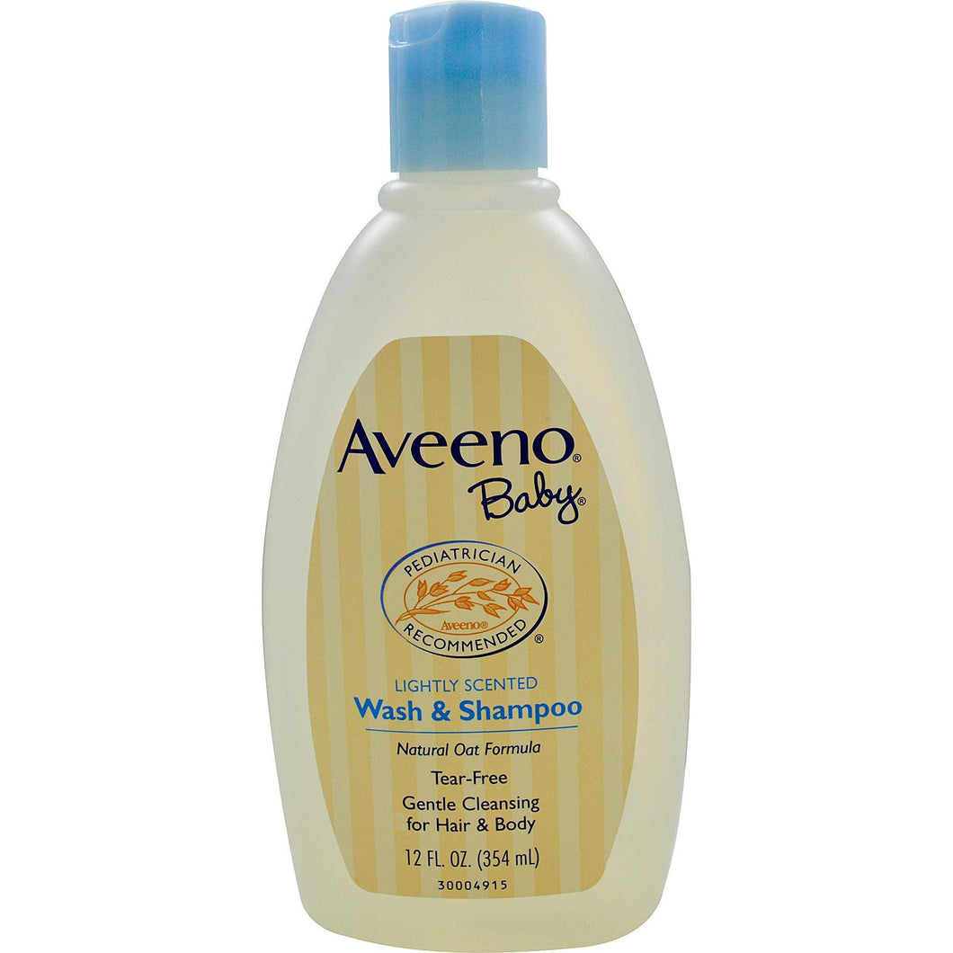 Aveeno, Baby, Wash & Shampoo, Lightly Scented, 354 ml