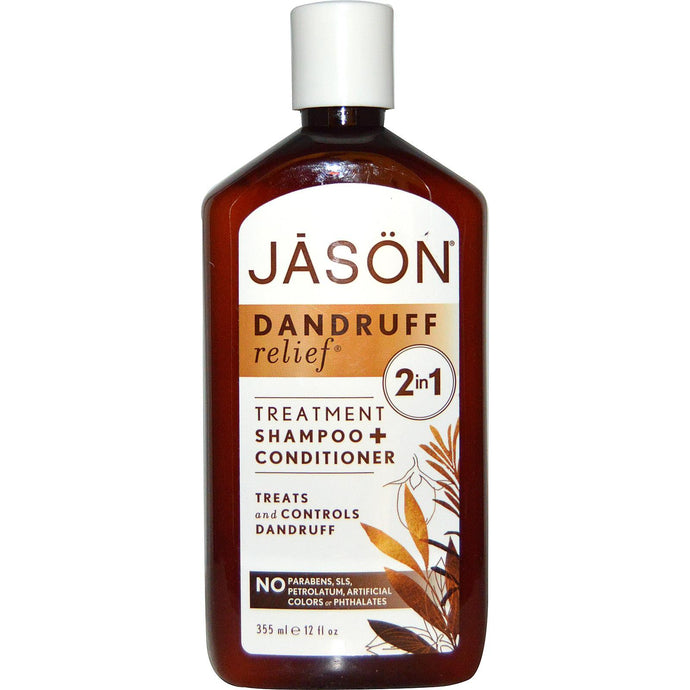 Jason Natural, Dandruff Relief, Shampoo & Conditioner, 355 ml, 12 fl oz