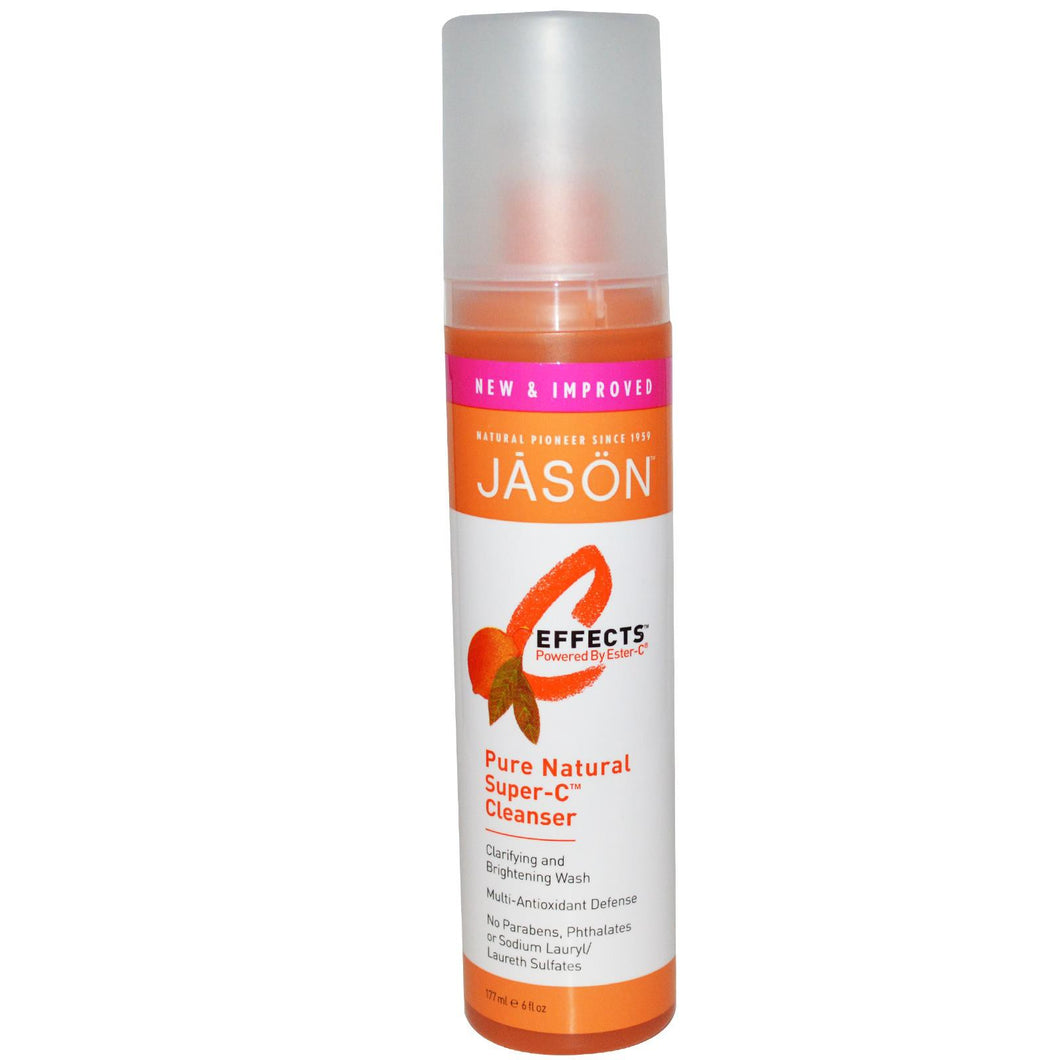 Jason Natural, C Effects, Pure Natural Super-C, Cleanser, 177 ml