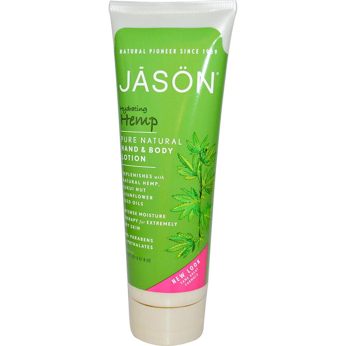 Jason Natural, Hand & Body Lotion, Hydrating Hemp, 227 g