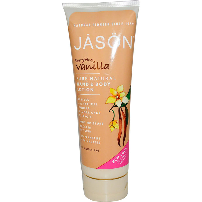 Jason Natural, Hand & Body Lotion, Energising Vanilla, 227 g