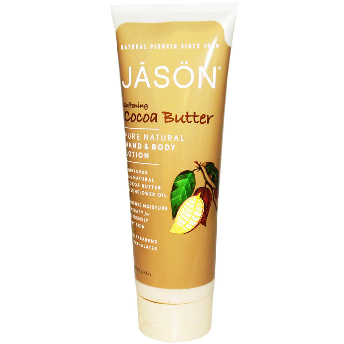 Jason Natural, Hand & Body Lotion, Softening Cocoa Butter, 227 g