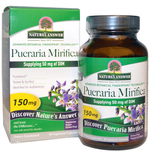 Nature's Answer Pueraria Mirifica 150 mg 60 Veggie Capsules