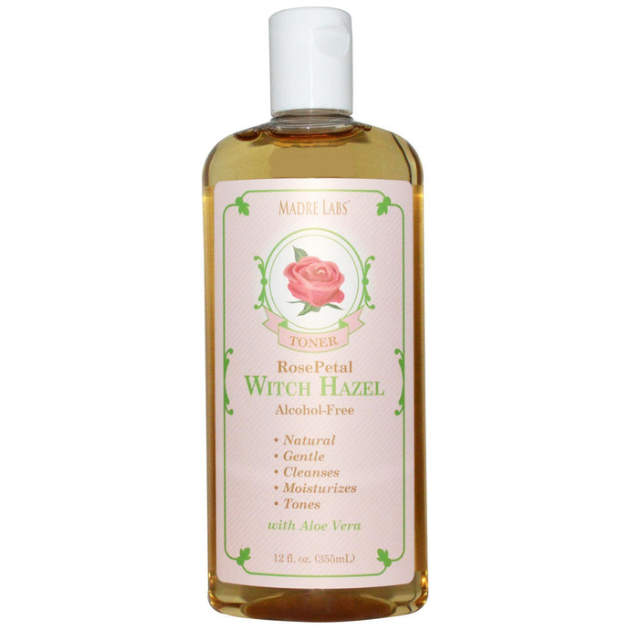 Madre Labs, Witch Hazel Toner, Rose Petal, Alcohol-Free, 355 ml