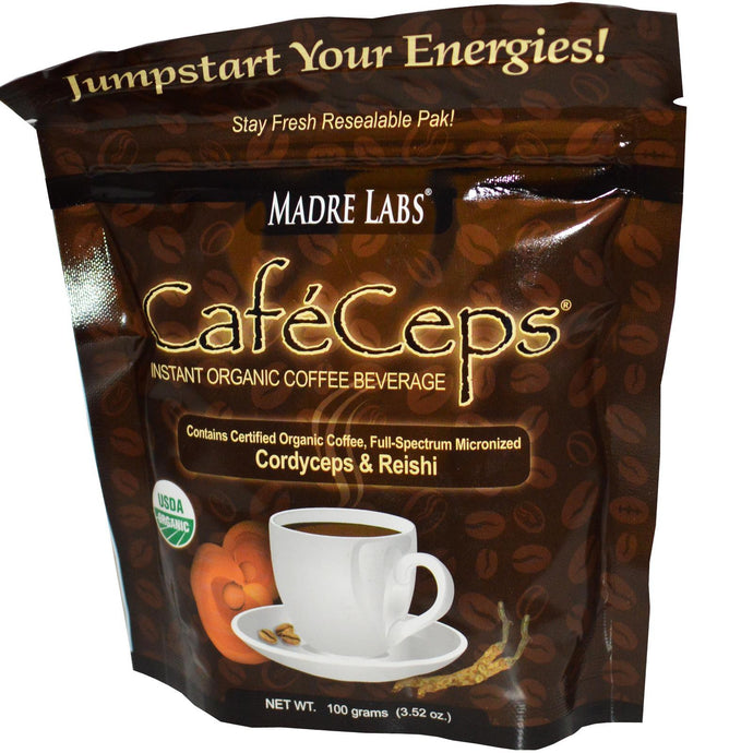 Madre Labs, Cafe Ceps, Instant Organic Coffee, 100 g