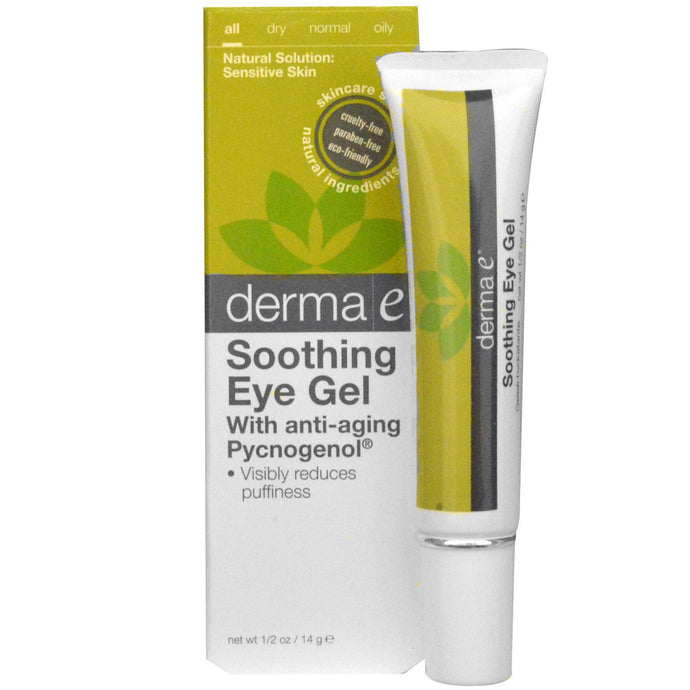 Derma E, Soothing Eye Gel, with Anti-Aging Pycnogenol, 14 g