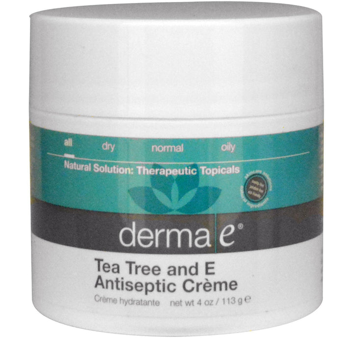Derma E, and Tea Tree, Antiseptic Creme, 113 g, 4 oz