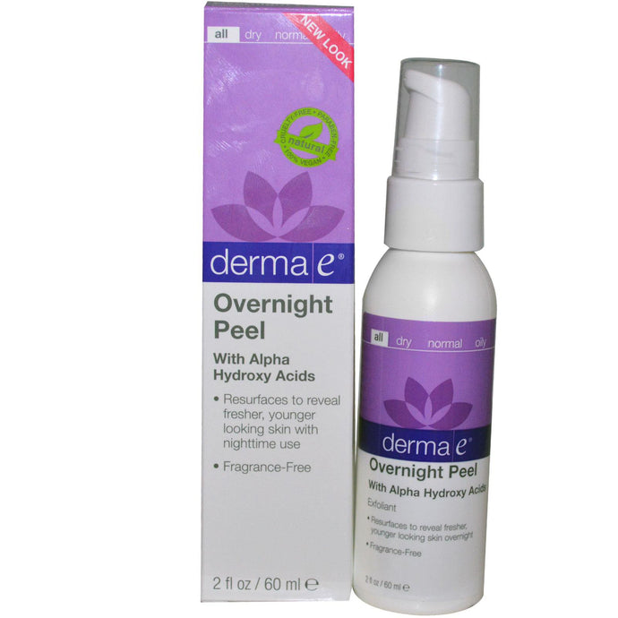 Derma E, Overnight Peel with Alpha Hydroxy Acids, 60 ml, 2 fl oz