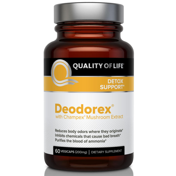 Quality of Life Labs, Deodorex, With Champex Mushroom Extract, 250 mg, 60 VegiCaps