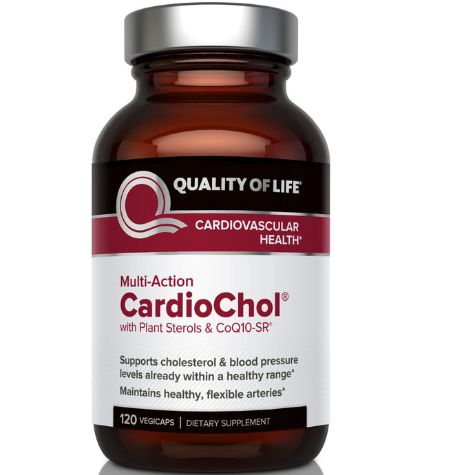 Quality of Life Labs, CardioChol, with Plant Sterols & CoQ10-SR, Multi-Action, 120 Veggie Capsules