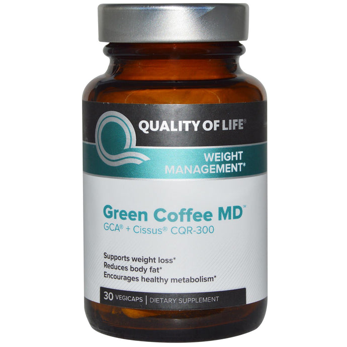 Quality of Life Labs, Green Coffee MD, GCA + Cissus CQR-300, 30 Veggie Capsules