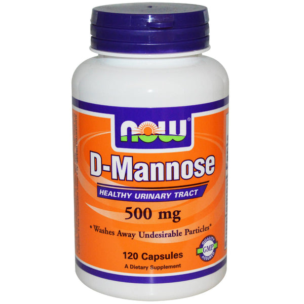 Now Foods D-Mannose 500mg 120 Capsules