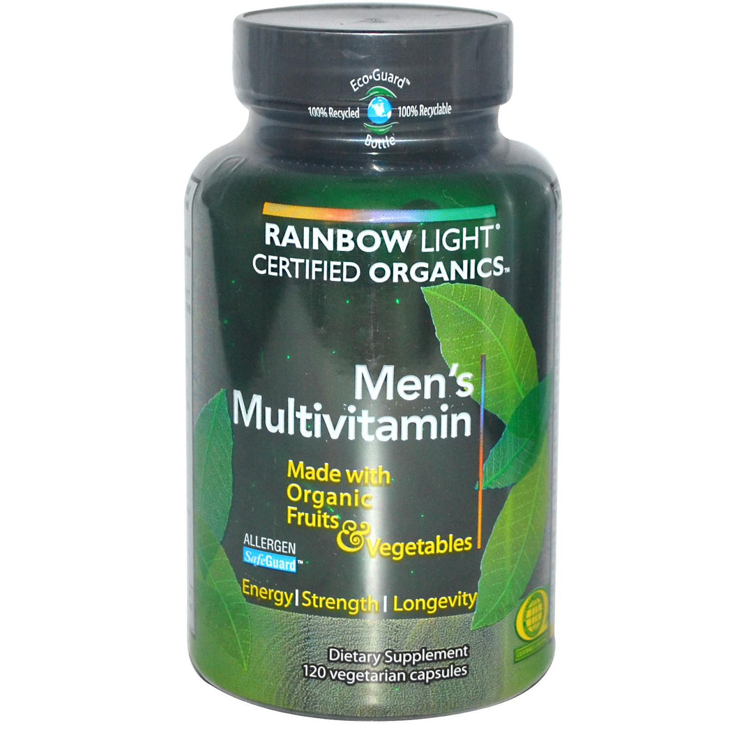 Rainbow Light, Certified Organics, Men's Multivitamin, 120 Veggie Capsules
