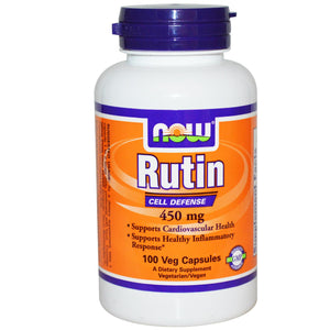 Now Foods Rutin 450mg 100 Veggie Caps - Dietary Supplement