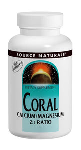 Source Naturals, Coral Calcium/Magnesium 2:1 Ratio, 90 Tablets