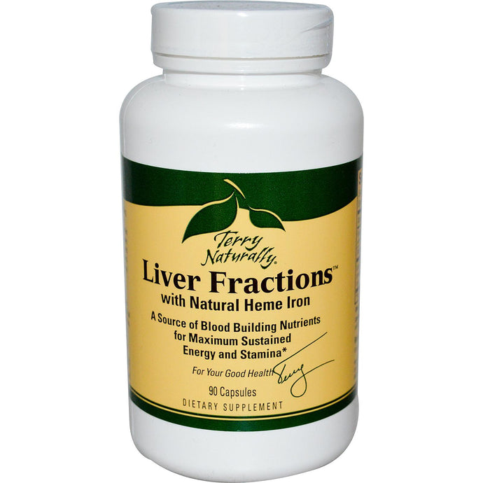 EuroPharm Terry Naturally Liver Fractions with Natural Hemme Iron 90 Capsules
