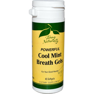 EuroPharama, Terry Naturally, Powerful Cool Mint Breath Gels, 45 softgels
