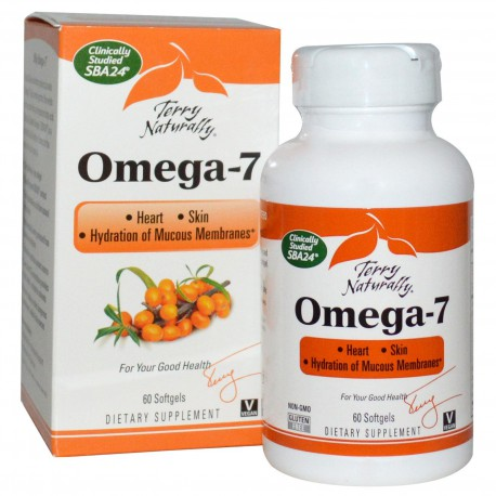 EuroPharma Omega-7 Terry Naturally 60 Softgels - Dietary Supplement