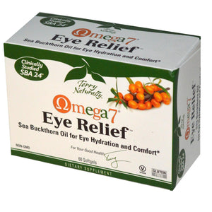 EuroPharma, Terry Naturally, Omega-7, Eye Relief, 60 Softgels