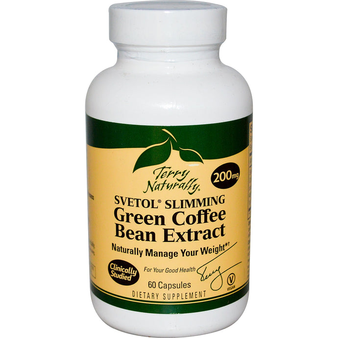 EuroPharma, Terry Naturally, Svetol Slimming Green Coffee Bean Extract, 200 mg, 60 Capsules- Short Dated AUG 2015