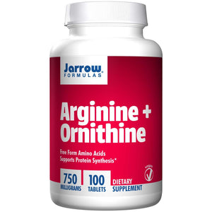 Jarrow Formulas, Arginine + Ornithine 750mg, 100 Tablets