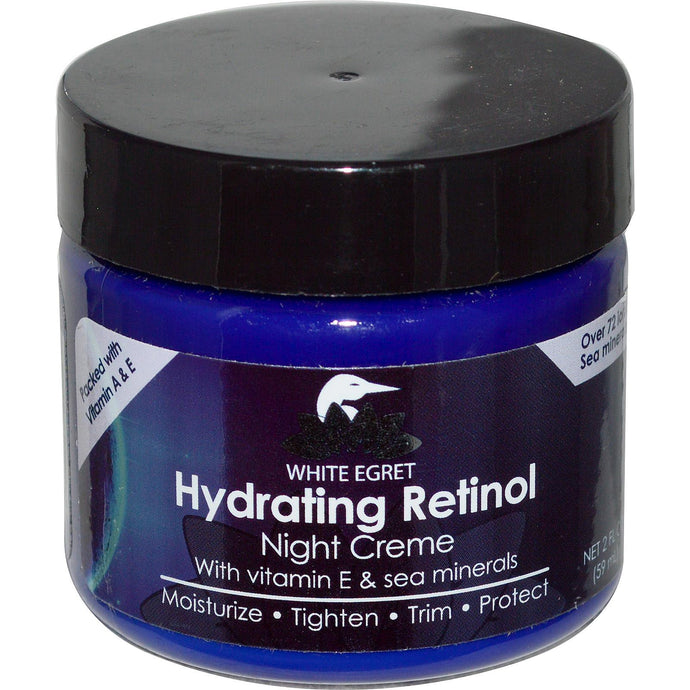 White Egret Personal Care, Hydrating Retinol Night Cream, 59 ml