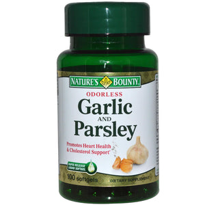 Nature's Bounty, Garlic & Parsley, Odourless, 100 Softgels