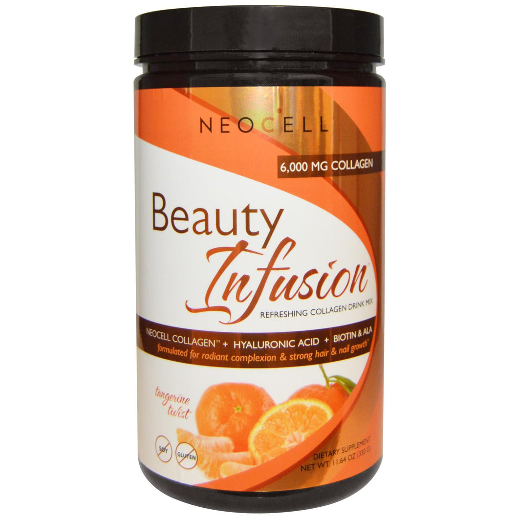 Neocell, Beauty Infusion, Refreshing Collagen Drink Mix, Tangerine Twist, 330 g