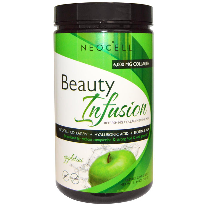 Neocell, Beauty Infusion, Collagen Drink Mix, Appletini, 330 g