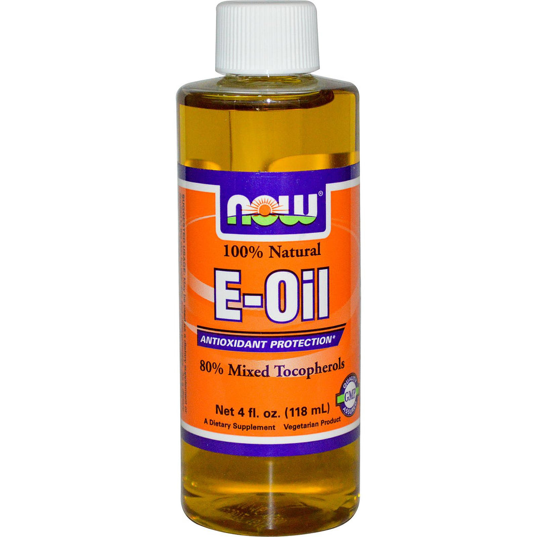 Now Foods, E-Oil, 100 % Natural, 118 ml, 4 fl oz