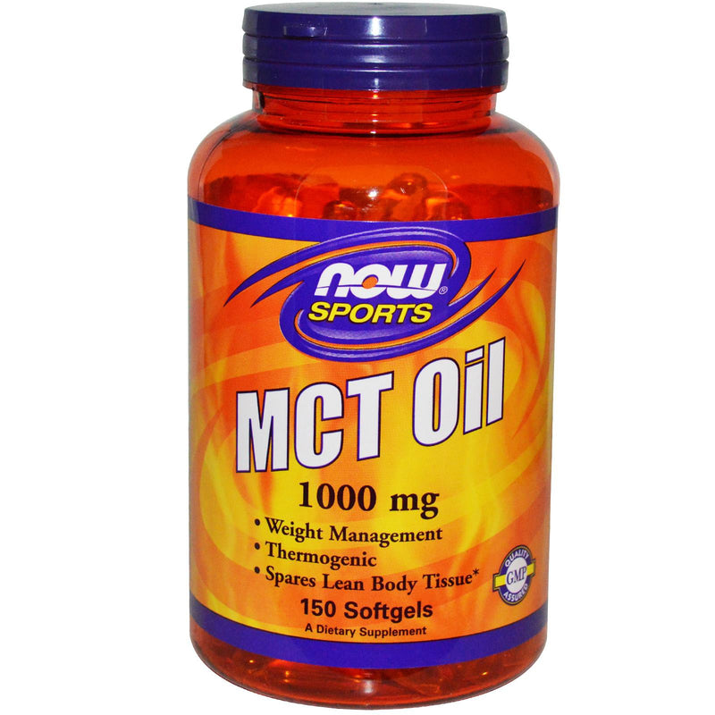 Now Foods Sports MCT Oil 1000 mg 150 Softgels - Dietary Supplement