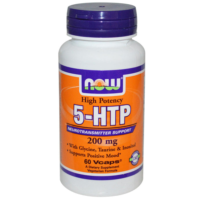 Now Foods 5-HTP 200 mg 60 Vcaps - Dietary Supplement
