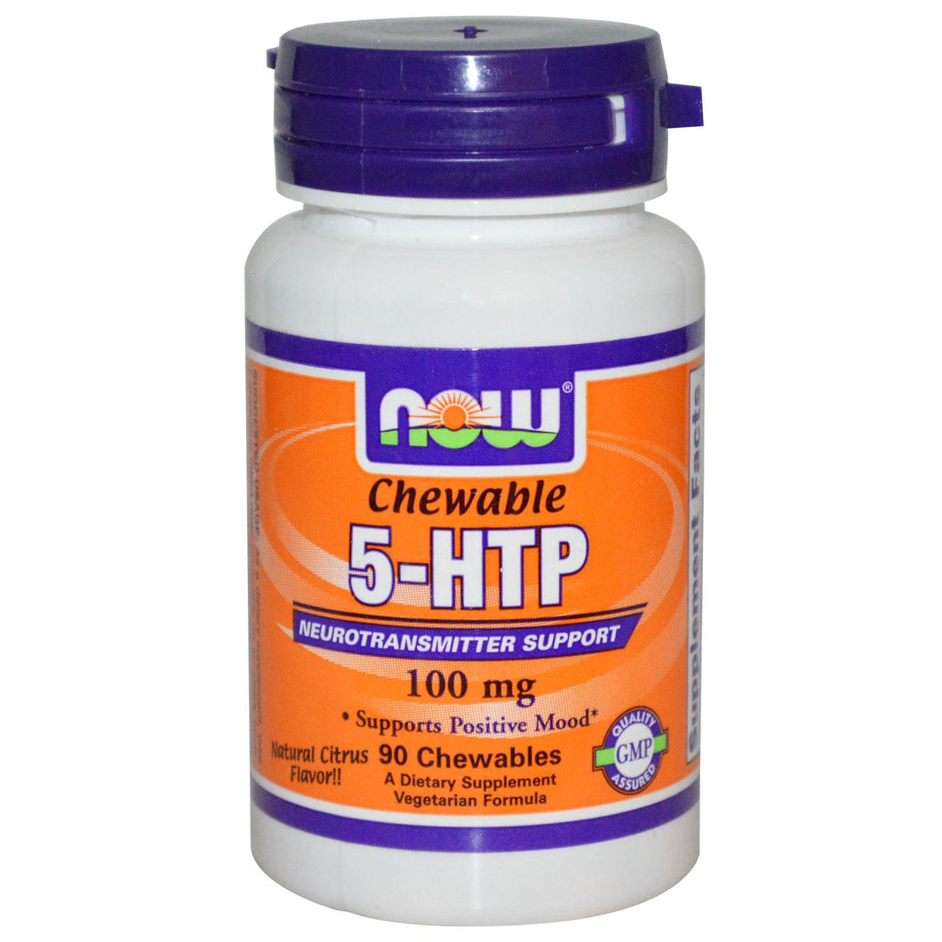 Now Foods, 5-HTP, Chewable Natural Citrus Flavour, 100 mg, 90 Chewables