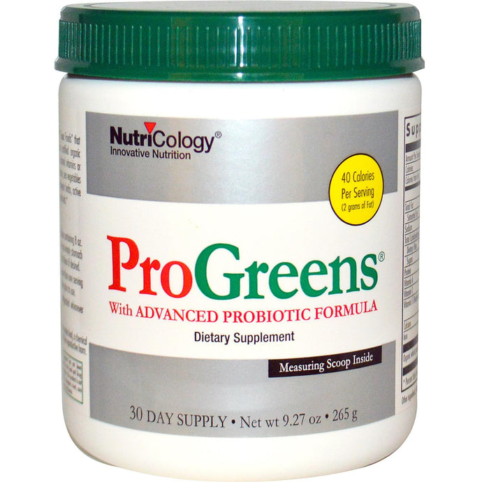 Nutricology, ProGreen, with Advanced Probiotic Formula, 265 g