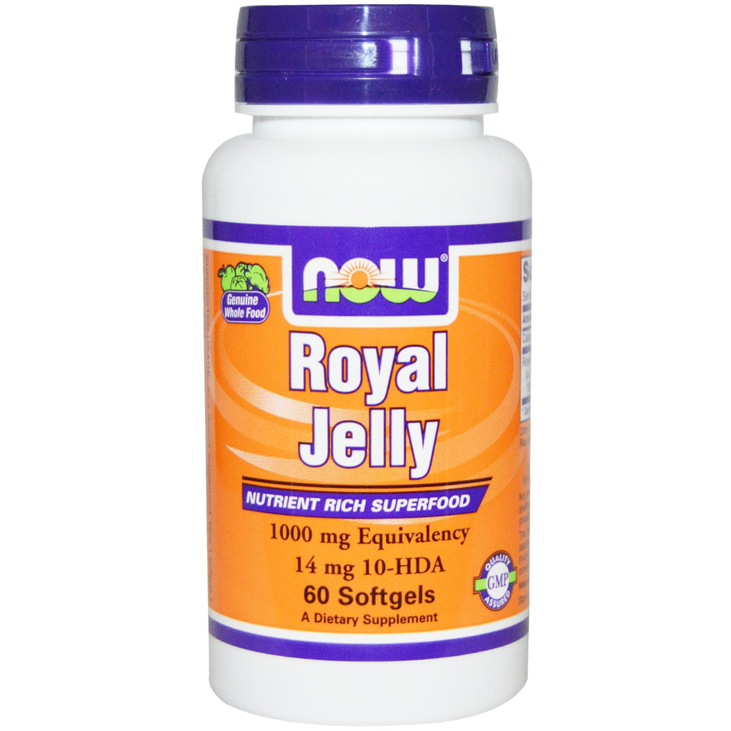 Now Foods, Royal Jelly, 1000 mg, 60 Capsules