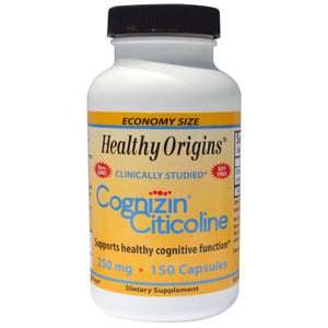 Healthy Origins, Cognizin Citicoline, 250mg , 150 Capsules