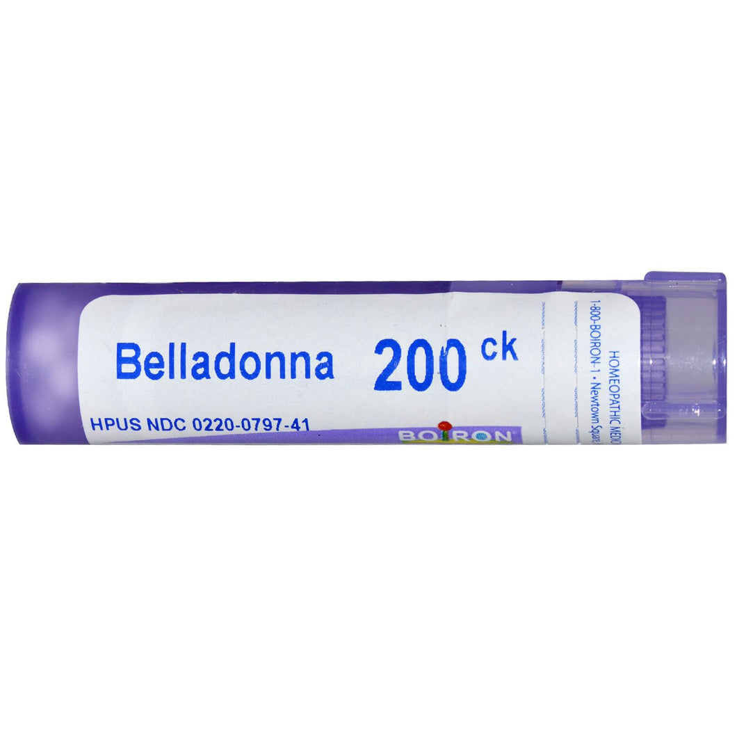 Boiron, Single Remedies, Belladonna, 200CK, Approx 80 Pellets