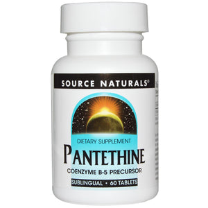 Source Naturals, Pantethine, Sublingual, 60 Tablets