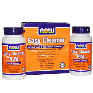 Now Foods, Easy Cleanse, 2 Bottles, 60 Vcaps Each