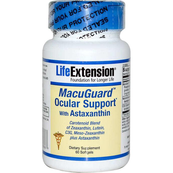 Life Extension, MacuGuard, Ocular Support, with Astaxanthin, 60 Softgels