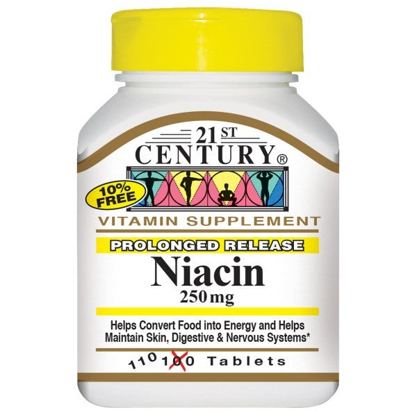 21st Century Health Care Niacin Prolonged Release 250mg 110 Tablets