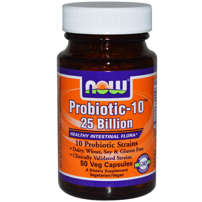 Now Foods Probiotic-10 25 Billion 50 Veggie Caps - Dietary Supplement