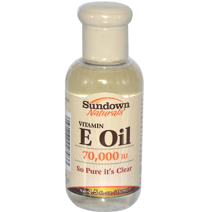 Rexall Sundown Naturals, Vitamin E Oil, 70,000 IU, 2.5 fl oz (75 ml)