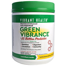 Load image into Gallery viewer, Vibrant Health, Green Vibrance, Version 16.0, +25 Billion Probiotics, 25.04 oz (709.8 g)